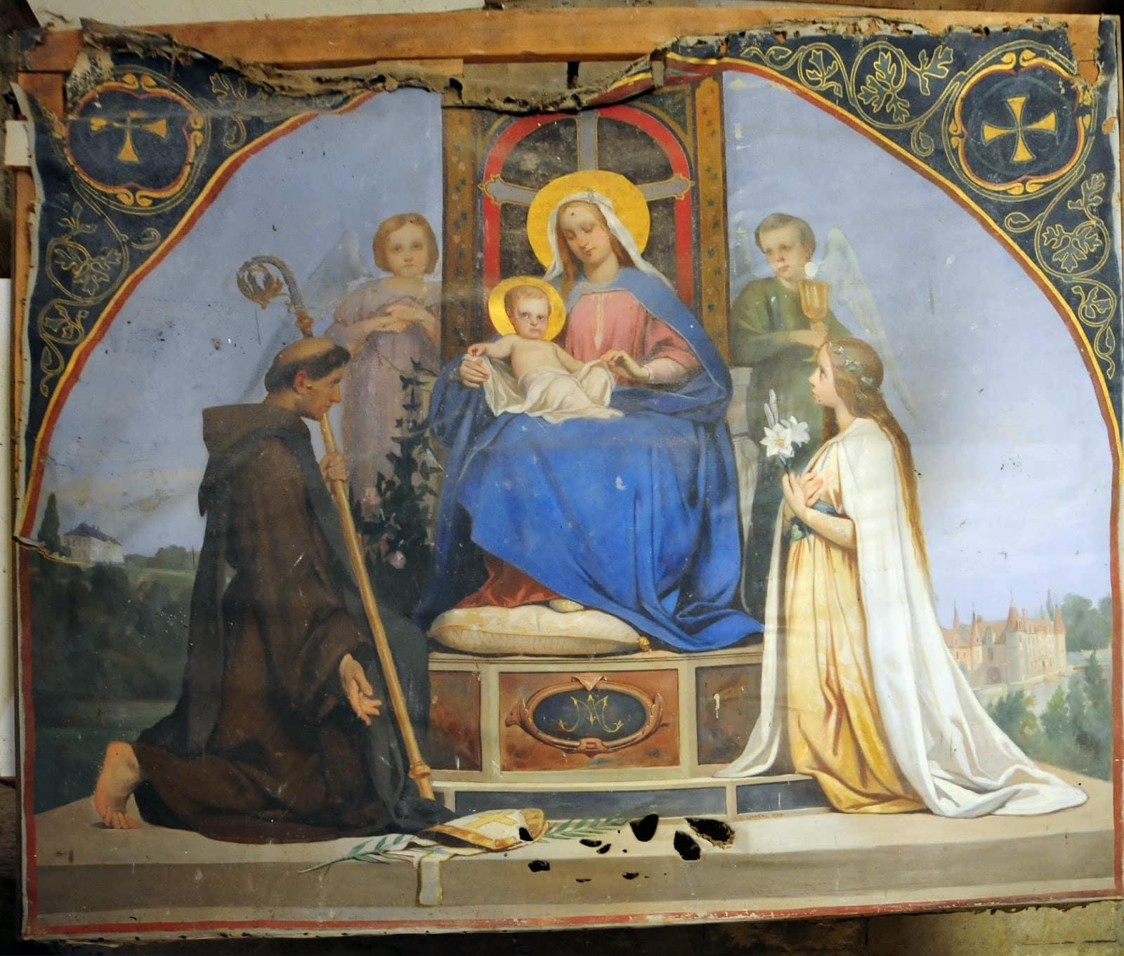Tableau de La Vierge et l'Enfant